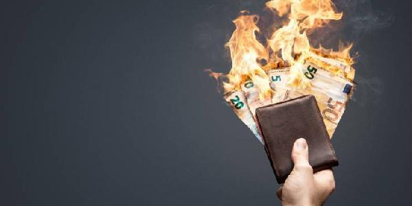 Un portefeuille prend feu